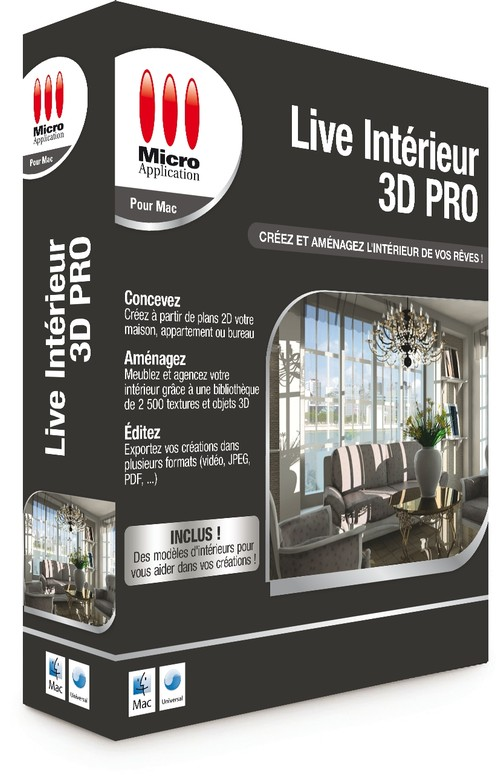 Micro application 3d architecte pro cadillac for Architecte 3d interieur